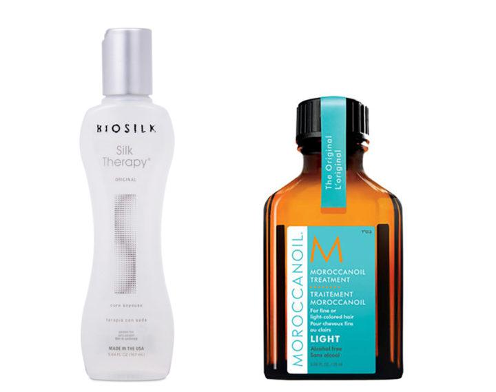 BioSilk vs Moroccan Oil