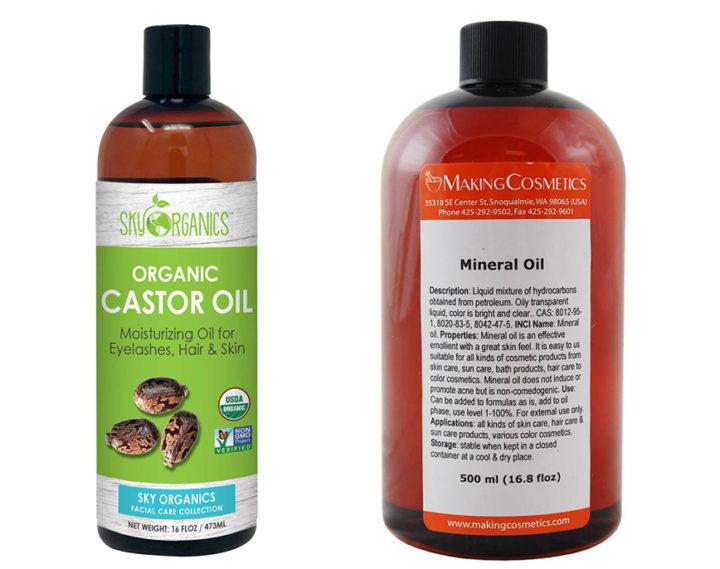 Castor oil vs Mineral oil